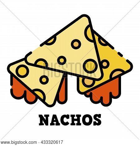 Nachos Icon. Outline Nachos Vector Icon Color Flat Isolated