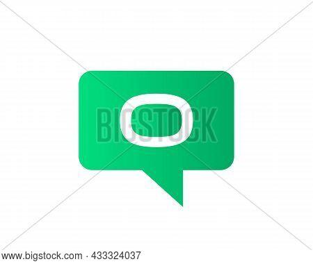 Chat Logo On O Letter Concept. Letter O Chat Logo. Letter O Communication Logo Design Template