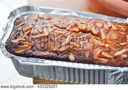 Cake ,banana Cake Or Almond Cake In The Box