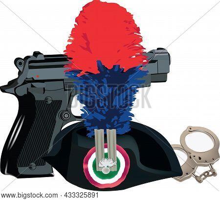 Dress Uniform Gun And Handcuffs Cabinieri Weapon
