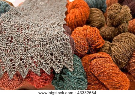 Still Life Of Beautiful Yarns