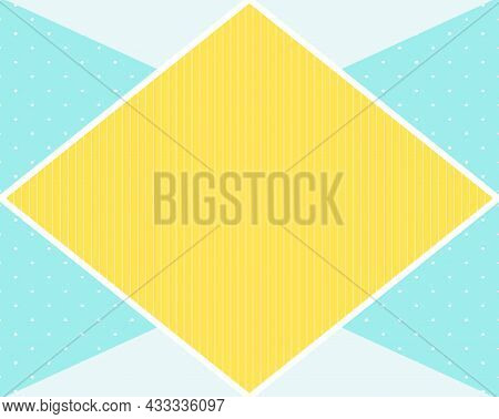 Light Frame For Text In The Form Of Arhombus. Vector Illustration. Eps10