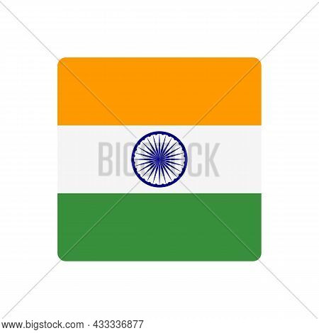 Abstract India Flag Sign. Vector Illustration. Eps10