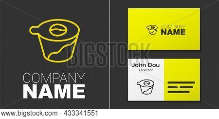 Logotype Line Pour Over Coffee Maker Icon Isolated On Grey Background. Alternative Methods Of Brewin
