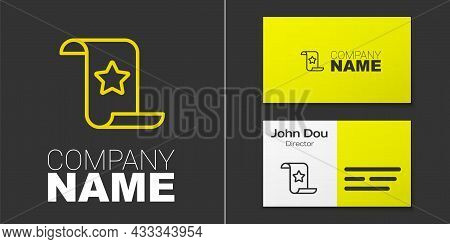 Logotype Line Paper Check And Financial Check Icon Isolated On Grey Background. Paper Print Check, S