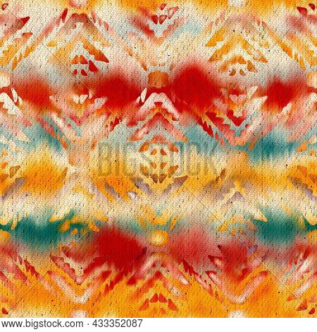Seamless Ombre Batik Textile Pattern For Print.