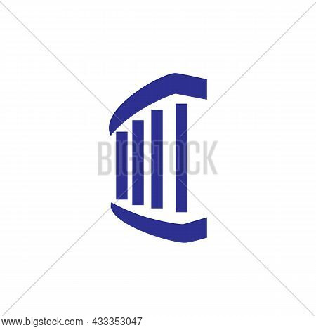 Abstract Pillar Logo Icon Flat Concept Vector Graphic Design
