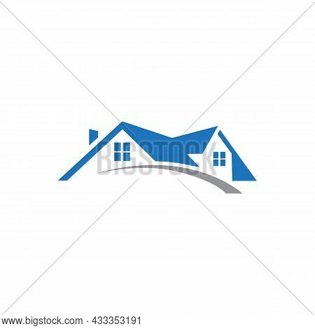 Real Estate Residence Home Logo Icon Flat Concept Vector Graphic Design