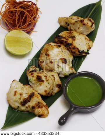 Tandoori Malai Chicken Tikka, Cream Based Marinated Chicken Cubes Cooked In Clay Oven,  Indian Food