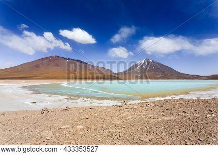 The Green Laguna Verde,bolivia