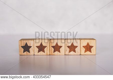 Cube Wooden Block With Five Star Vote Rating, Review And Feedback Of Quality And Satisfaction, Guara