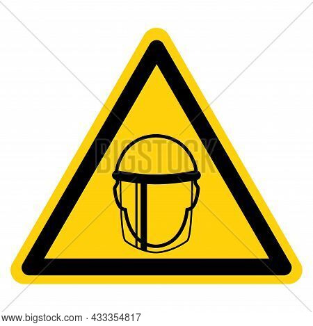 Face Shield Symbol Sign ,vector Illustration, Isolate On White Background Label. Eps10