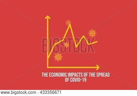 Stock Market Down On Coronavirus Fears. Economic Crisis Concept