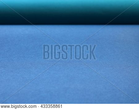 Blue-blue Paper Texture With Shaded Line Dividing Space Into Two Parts, Textural Background Of Smoot