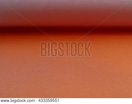 Pale Orange Colored Paper As A Texture Graphic Resource With Lines And Shadows In Structure, Peach P