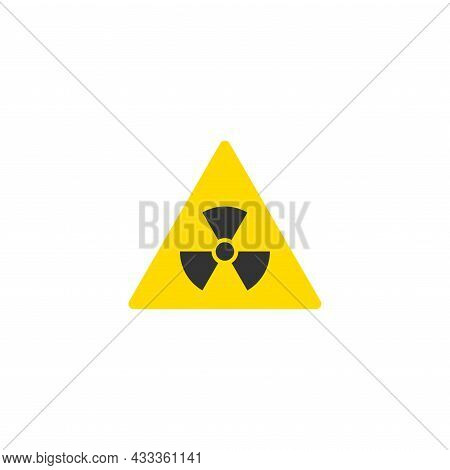 Radiation Sign. Toxic Or Poisonous. Triangle Yellow Icon Isolated On White. Danger Sign. Toxic Place