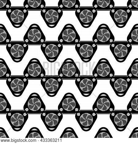 Triangular Fan Fireplace Pattern Seamless Background Texture Repeat Wallpaper Geometric Vector