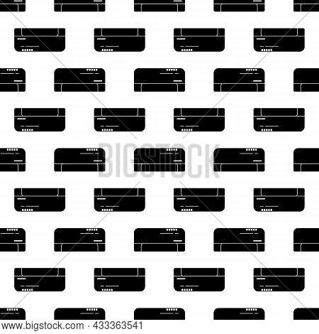 Split Air Conditioning System Pattern Seamless Background Texture Repeat Wallpaper Geometric Vector