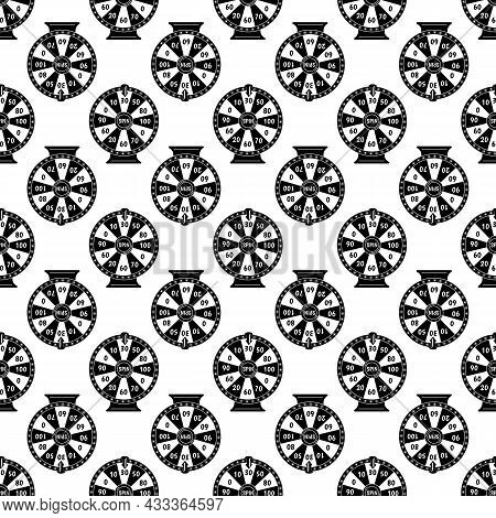 Spin Fortune Wheel Pattern Seamless Background Texture Repeat Wallpaper Geometric Vector