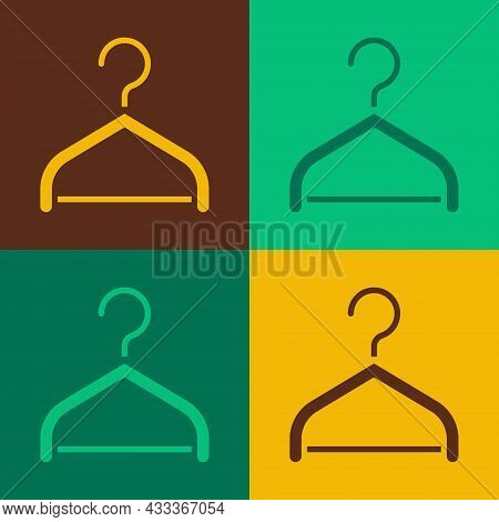 Pop Art Hanger Wardrobe Icon Isolated On Color Background. Cloakroom Icon. Clothes Service Symbol. L