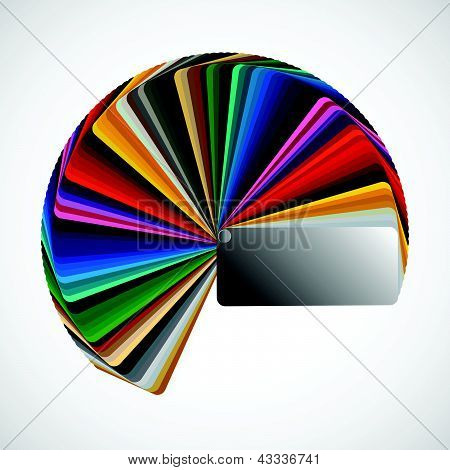 Color palette isolated on white background color vector samples poster