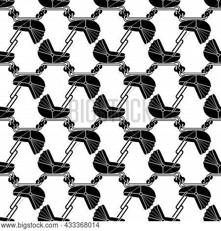 Baby Pram Pattern Seamless Background Texture Repeat Wallpaper Geometric Vector