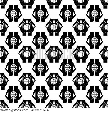 Global Unity Hands Pattern Seamless Background Texture Repeat Wallpaper Geometric Vector
