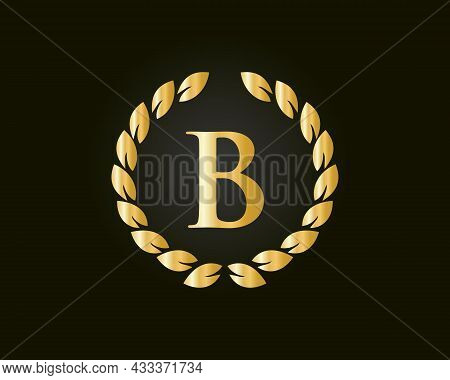 Initial Letter B With Luxurious Concept. B Luxury Logo Template In Vector For Restaurant, Royalty, B