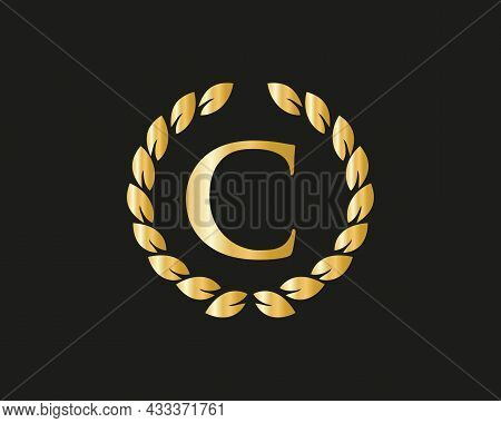 Initial Letter C With Luxurious Concept. C Luxury Logo Template In Vector For Restaurant, Royalty, B