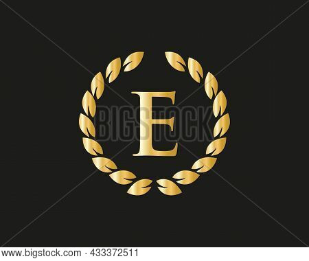 Initial Letter E With Luxurious Concept. E Luxury Logo Template In Vector For Restaurant, Royalty, B