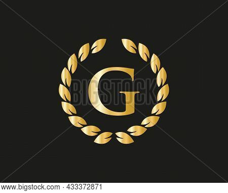 Initial Letter G With Luxurious Concept. G Luxury Logo Template In Vector For Restaurant, Royalty, B