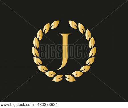 Initial Monogram J Logo With Luxurious Concept. J Luxury Logo Template In Vector For Restaurant, Roy