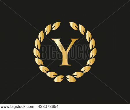 Y Logo With Luxurious Concept. Y Luxury Logo Template In Vector For Restaurant, Royalty, Boutique, C
