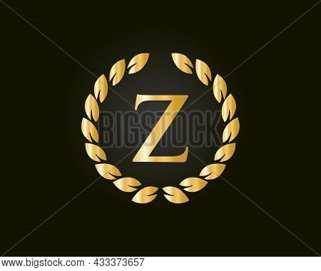 Initial Monogram Z Logo With Luxurious Concept. Z Luxury Logo Template In Vector For Restaurant, Roy