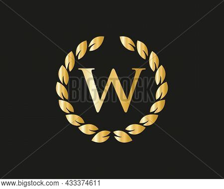 W Logo With Luxurious Concept. W Luxury Logo Template In Vector For Restaurant, Royalty, Boutique, C