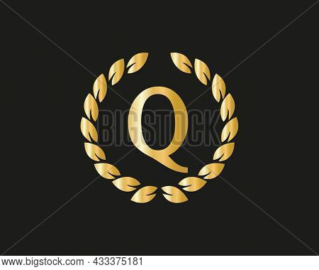 Initial Letter Q Logo With Luxurious Concept. Q Luxury Logo Template In Vector For Restaurant, Royal