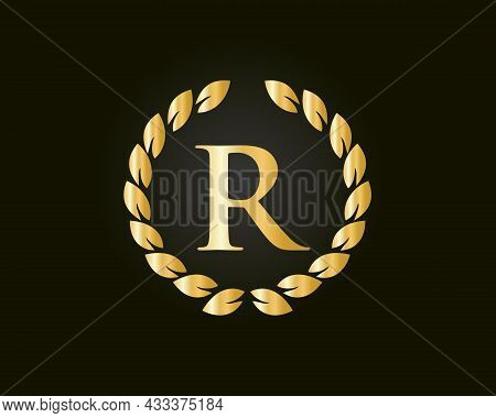 R Logo With Luxurious Concept. R Luxury Logo Template In Vector For Restaurant, Royalty, Boutique, C