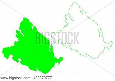 King William Island (canada, North America, Canadian Arctic Archipelago) Map Vector Illustration, Sc