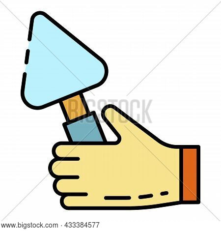 Hand Trowel Icon. Outline Hand Trowel Vector Icon Color Flat Isolated