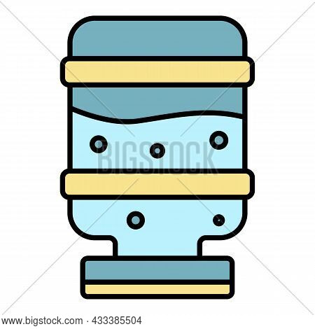 Mineral Water Cooler Icon. Outline Mineral Water Cooler Vector Icon Color Flat Isolated