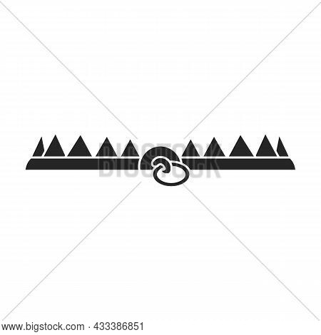 Trap For Animal Vector Icon.black Vector Icon Isolated On White Background Trap For Animal.