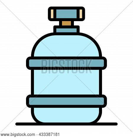 Irrigation Reserve Tank Icon. Outline Irrigation Reserve Tank Vector Icon Color Flat Isolated