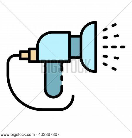 Jet Hose Irrigation Icon. Outline Jet Hose Irrigation Vector Icon Color Flat Isolated