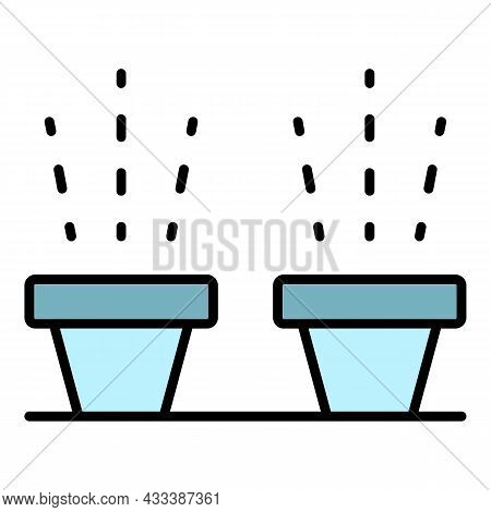Irrigation Pot Icon. Outline Irrigation Pot Vector Icon Color Flat Isolated
