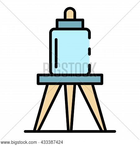 Reserve Irrigation Tank Icon. Outline Reserve Irrigation Tank Vector Icon Color Flat Isolated