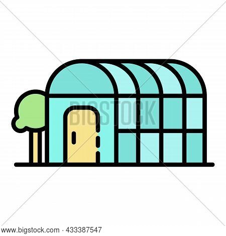 Home Greenhouse Icon. Outline Home Greenhouse Vector Icon Color Flat Isolated