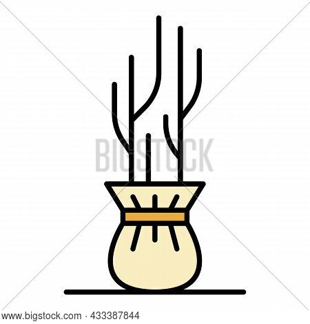 Seedling Icon. Outline Seedling Vector Icon Color Flat Isolated
