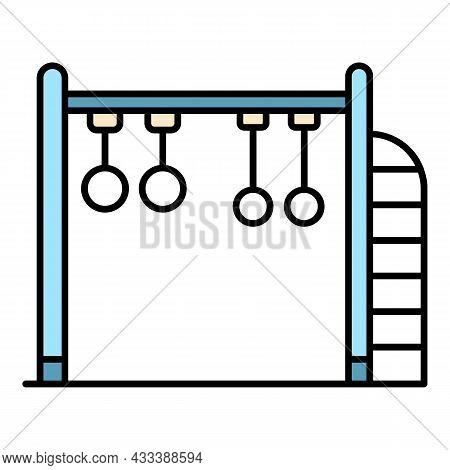 Kid Ring Playground Icon. Outline Kid Ring Playground Vector Icon Color Flat Isolated
