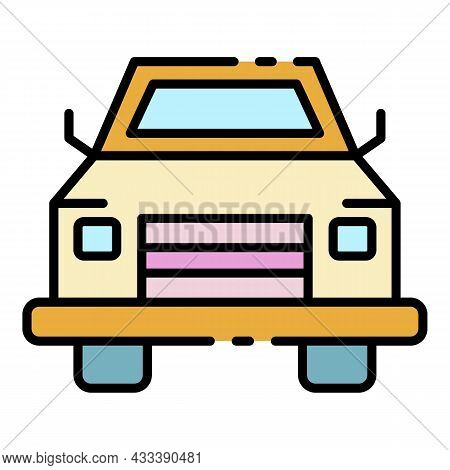 Pick Up Car Icon. Outline Pick Up Car Vector Icon Color Flat Isolated