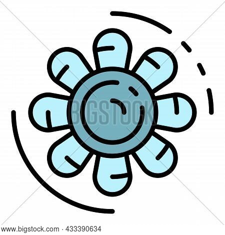 Car Motor Fan Icon. Outline Car Motor Fan Vector Icon Color Flat Isolated